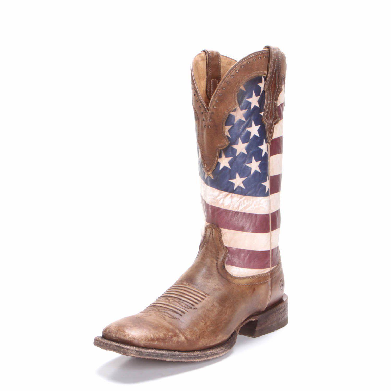 Ariat Mens Ranchero American Flag Cowboy Boots Boots Mens Cowboy Boots Cowgirl Boots