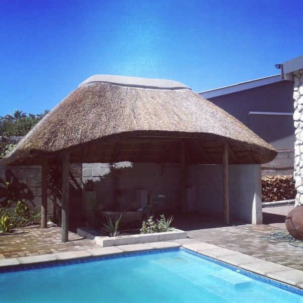 Traditional Garden With Pool: Pool And Thatched Lapa Installation. #Fun #Pool