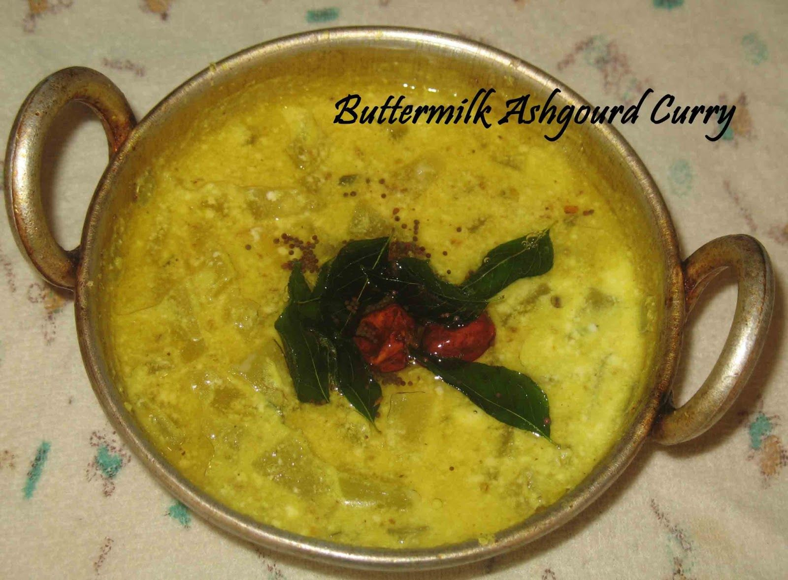 Buttermilk ash gourd curry sujithaeasycooking indian