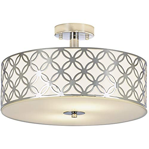 Sottae 12 Luxurious Living Room Bedroom Ceiling Lamp Creamy White Glass Diffuser Chrome Finish Flush Mou In 2020 Glass Diffuser Ceiling Lights Bedroom Light Fixtures