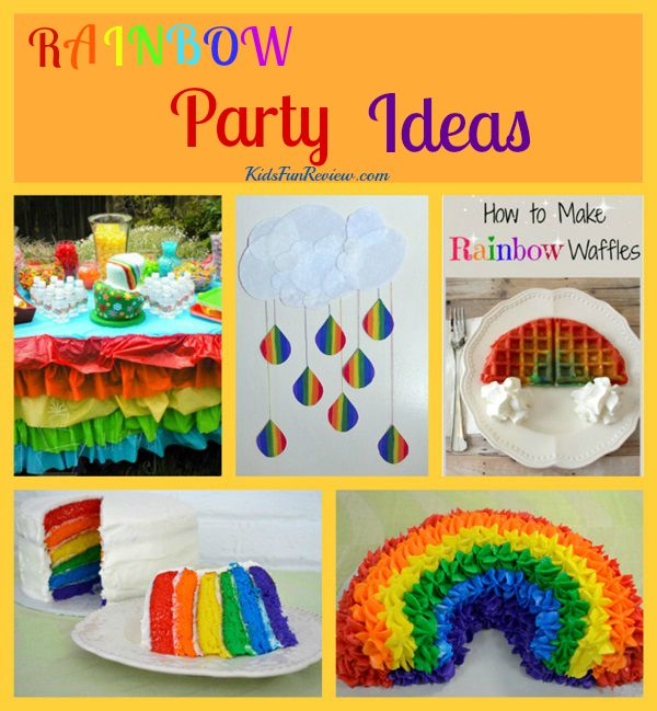 Craft Ideas For Kids Party Part - 43: Rainbow Party Ideas For Kids