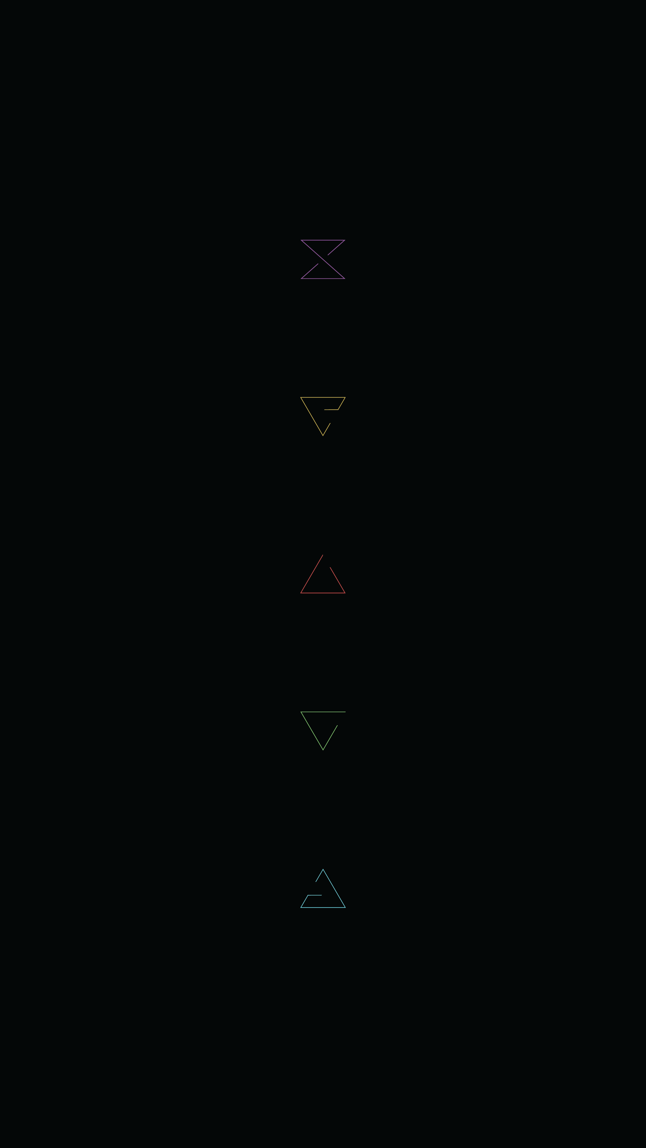 A minimal mobile wallpaper with Witcher's signs