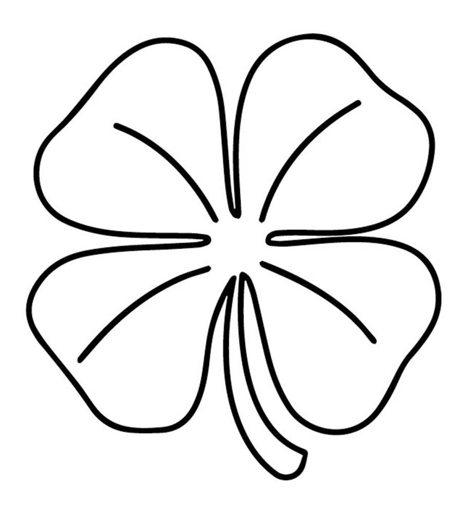 Top 20 Free Printable Four Leaf Clover Coloring Pages Online Clover Leaf Leaf Coloring Page Shamrock Coloring Pages
