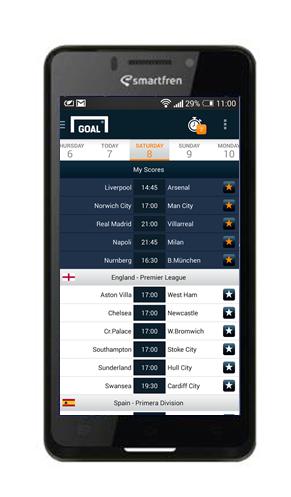 Update skor pertandingan terbaru liga favoritmu pakai apps