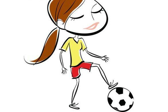 Dibujos animados de futbol sala