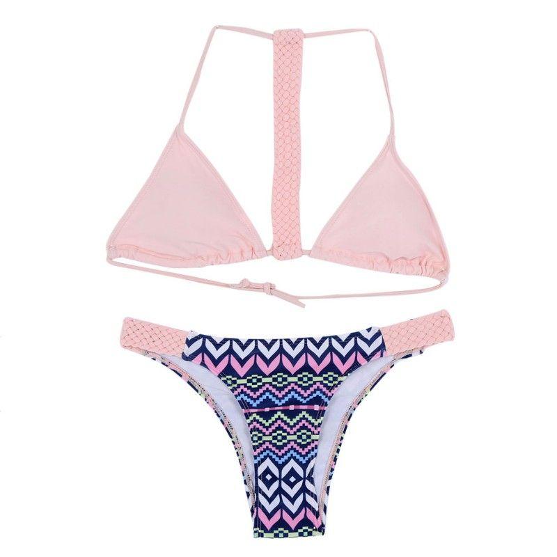 PW Maillot de bain bikini imprimé floral , s