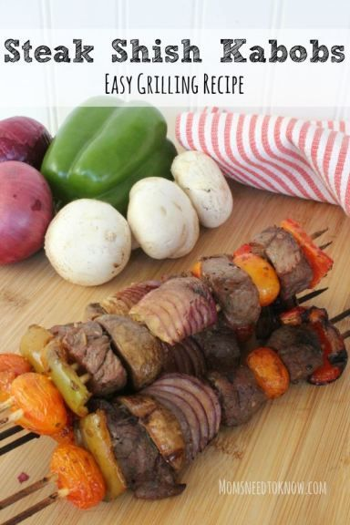 These steak shish kabobs are packed with flavor, thanks to a delicious marinade. Make sure to add this recipe to your grilling rotation!