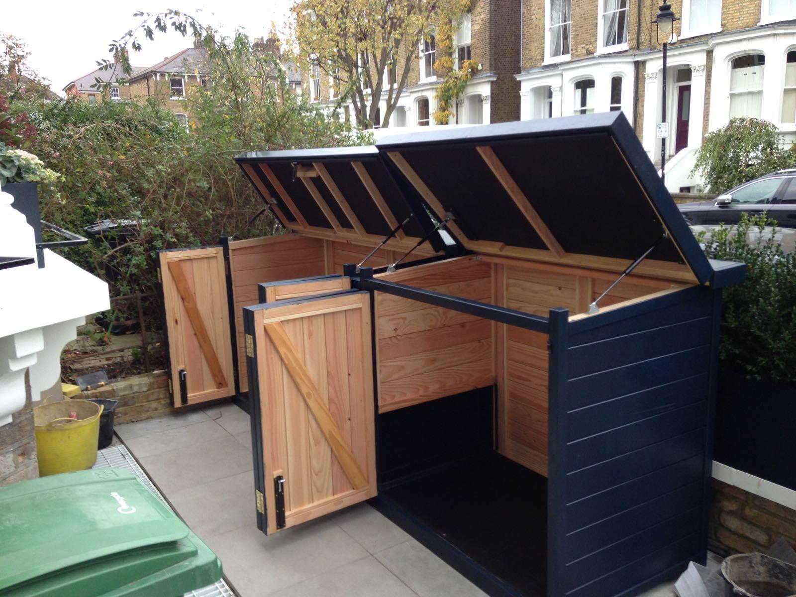 Bespoke storage with concertina door to save space.  Patio