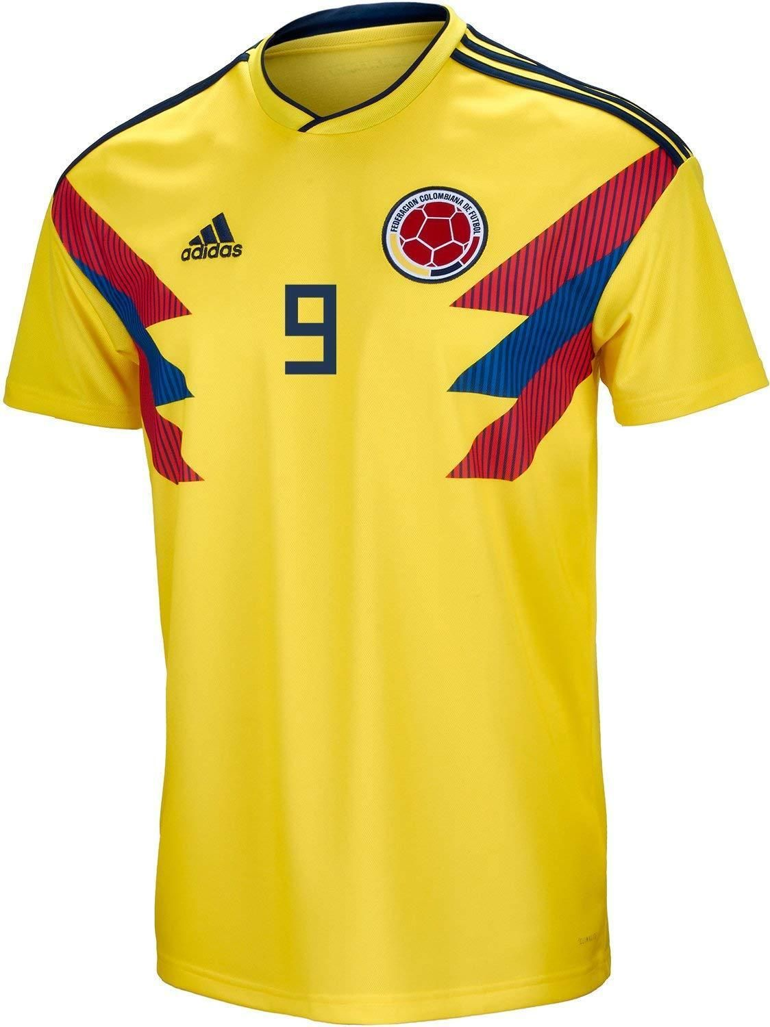 Adidas Falcao  9 Colombia Official Home Mens Soccer Jersey World Cup 2018  Small Discount Price 99.99 Free Shipping Buy it Now 2569707d4