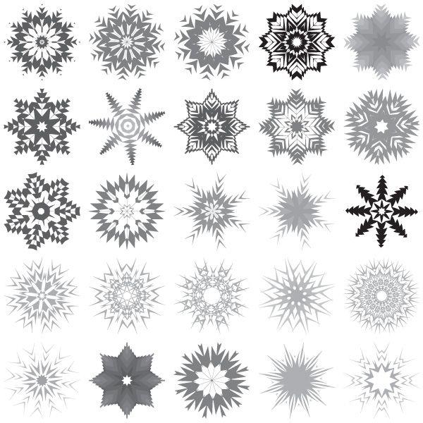 30 snowflakes free vector art free vector art vector art and rh pinterest co uk free snowflake vector clip art white snowflake vector art