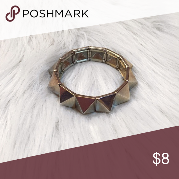 Spiked Statement Bracelet Edgy spiked statement bracelet never worn and great piece of give your outfit a bit of edge. Urban Outfitters Jewelry Bracelets