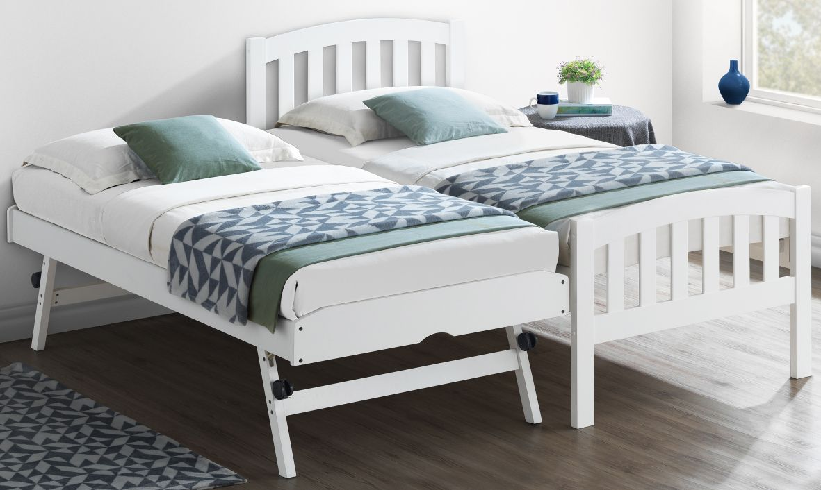 Blake White Wooden Guest Bed And Trundle In 2019 Guest Beds