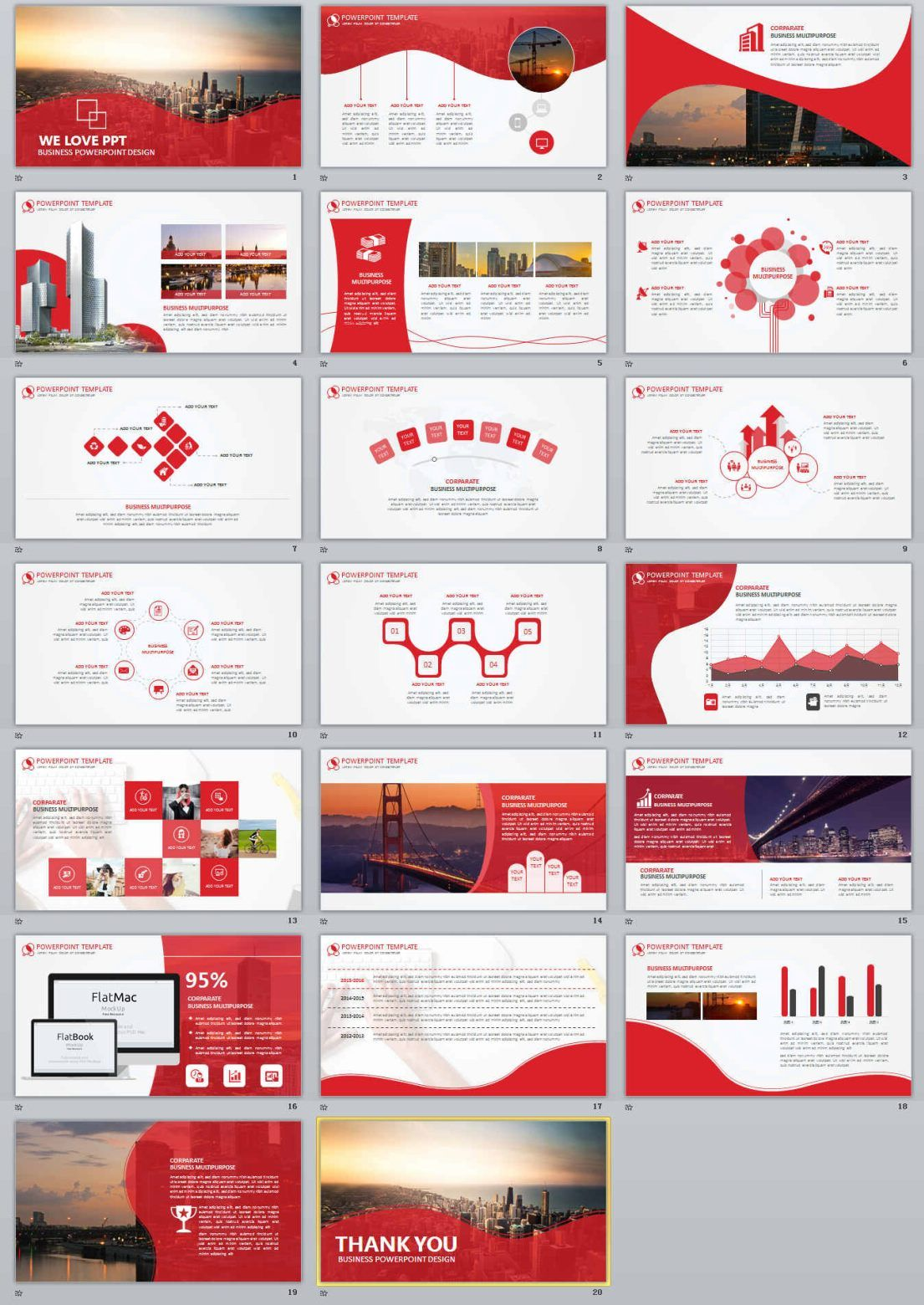 20+ red business report powerpoint templates | powerpoint, Modern powerpoint