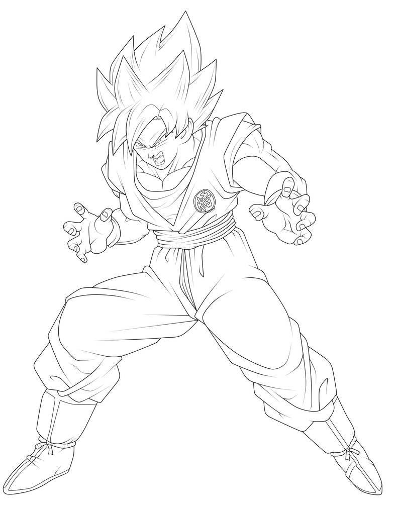 Goku Super Saiyan Lineart By Chronofz On Deviantart Dragon Ball Super Artwork Dragon Ball Artwork Dragon Ball Super Art