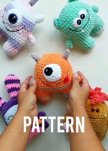 Photo of Kawaii Monster CROCHET PATTERN – Plush Amigurumi Alien – Easy Pattern for Beginners
