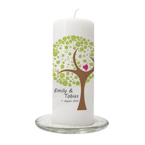Hochzeitskerze 'Liebesbaum'   Unity Candle ...