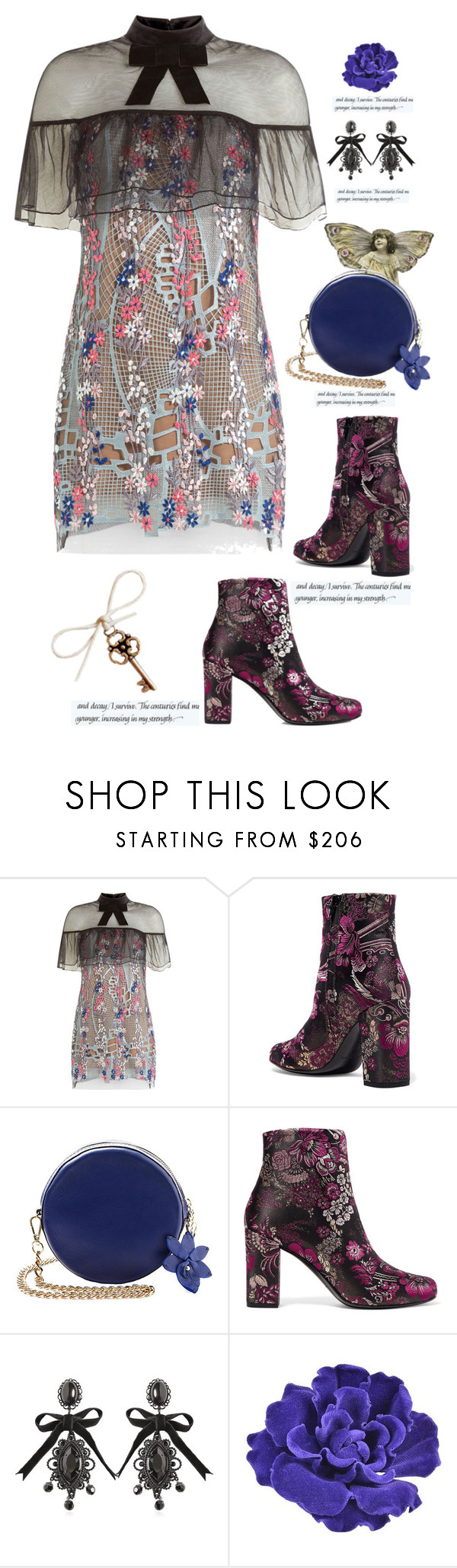 """A Step Back in Time'"" by dianefantasy ❤ liked on Polyvore featuring self-portrait, Yves Saint Laurent, Dsquared2 and Chanel"