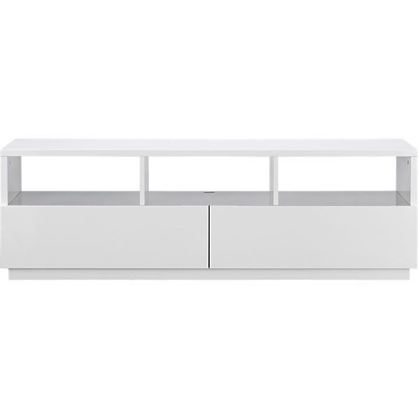 "chill white media console - CB2 $330 with floor sample discount in Santa Monica for Production Management Desk Console (better height than Ikea as alternate option) 60""x20""x20"""