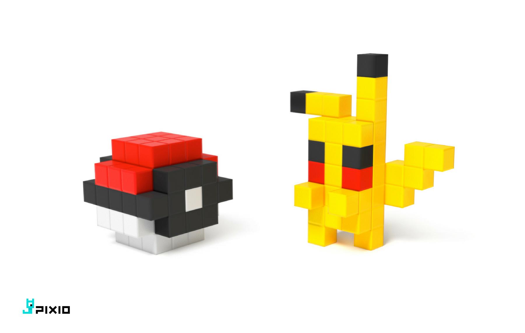 pokemon made of pixio magnetic cubes pixio pixioblocks pixelart