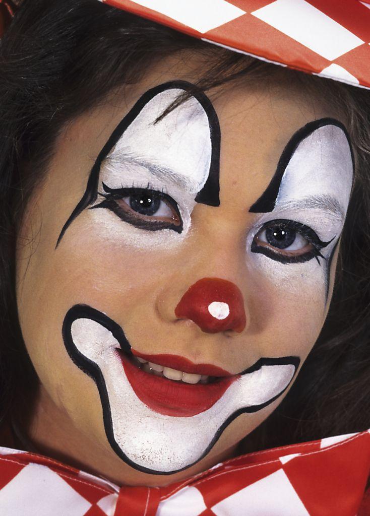een mooie en eenvoudige clown carnavals schmink pinterest clowns kinderen en paints. Black Bedroom Furniture Sets. Home Design Ideas
