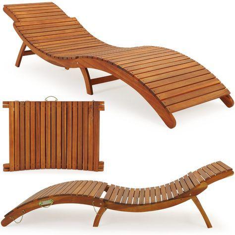 details zu sonnenliege gartenliege liegestuhl garten liege holz, Garten und Bauen