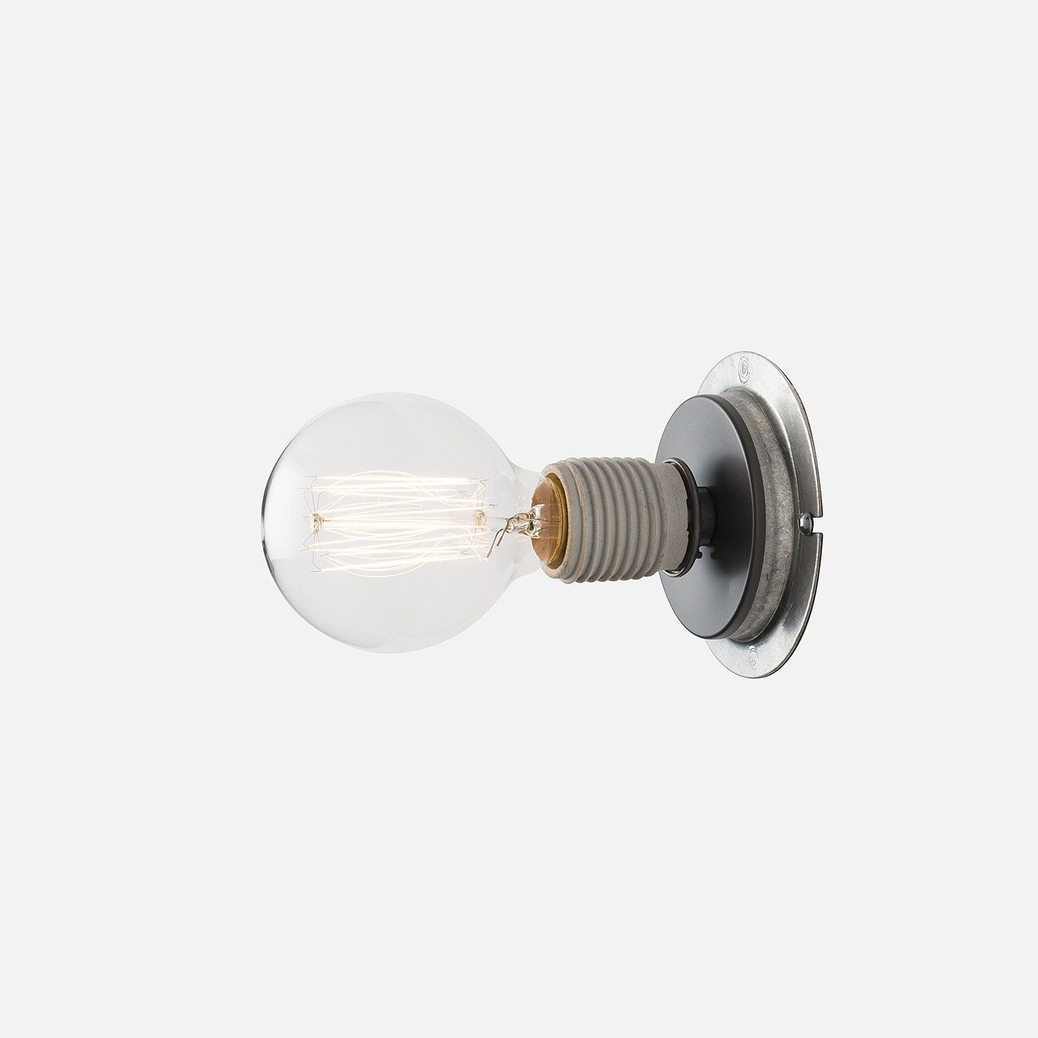 U/1 Sconce | Schoolhouse electric, Bulbs and Galvanized steel for Electric Bulb Holder  58lpg