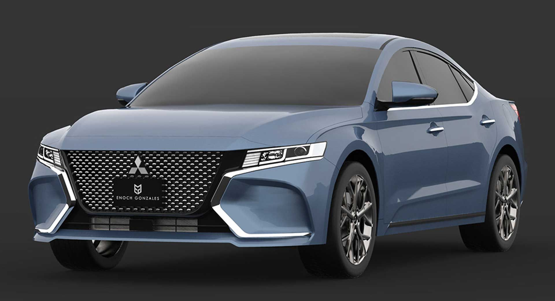 2020 Mitsubishi Gallant Study Envisions The Unlikely Rebirth Of A Mid Size Sedan Carscoops Mitsubishi Galant Mitsubishi Lancer Mitsubishi Cars