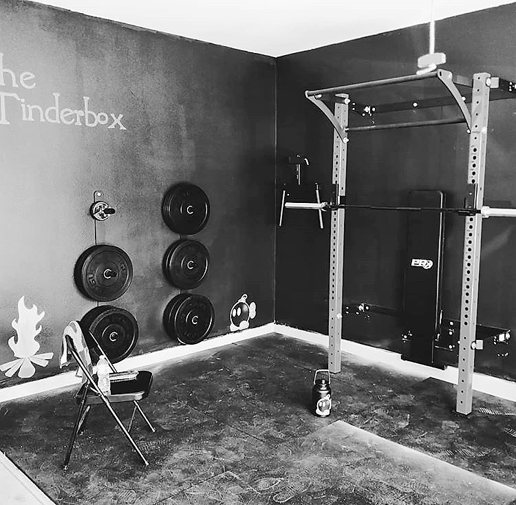 The tinderbox what would you name your home gym would your