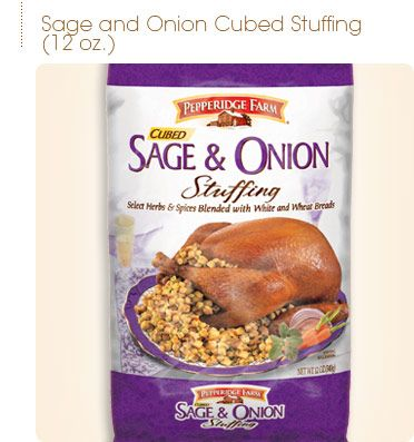 Pepperidge Farm Sage Onion Cubed Stuffing Home Shopping