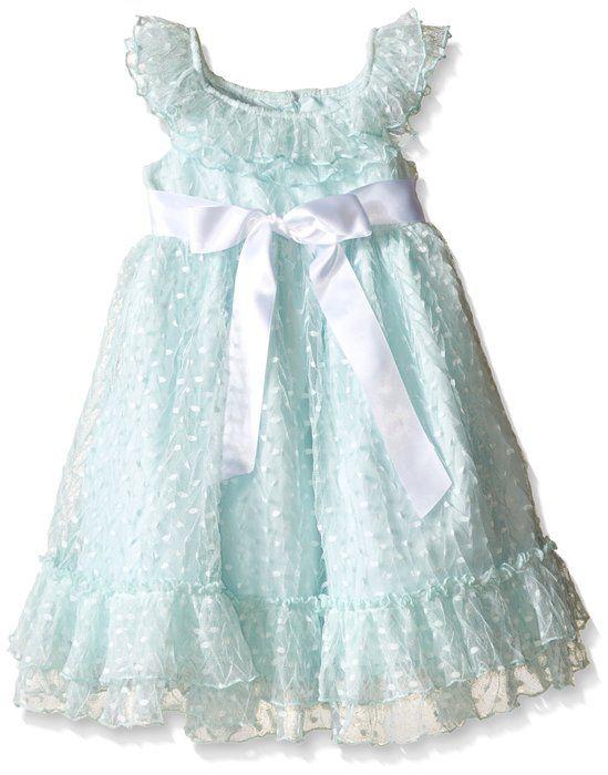 ae9c4bd42 Laura Ashley London Little Girls Mint Clip Dot Dress