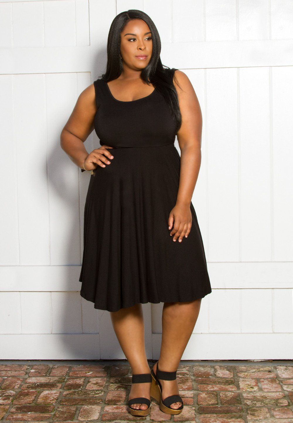 ac2768f2e NEW Plus Size Maggie Tank Dress- Black Shop www.curvaliciousclothes.com