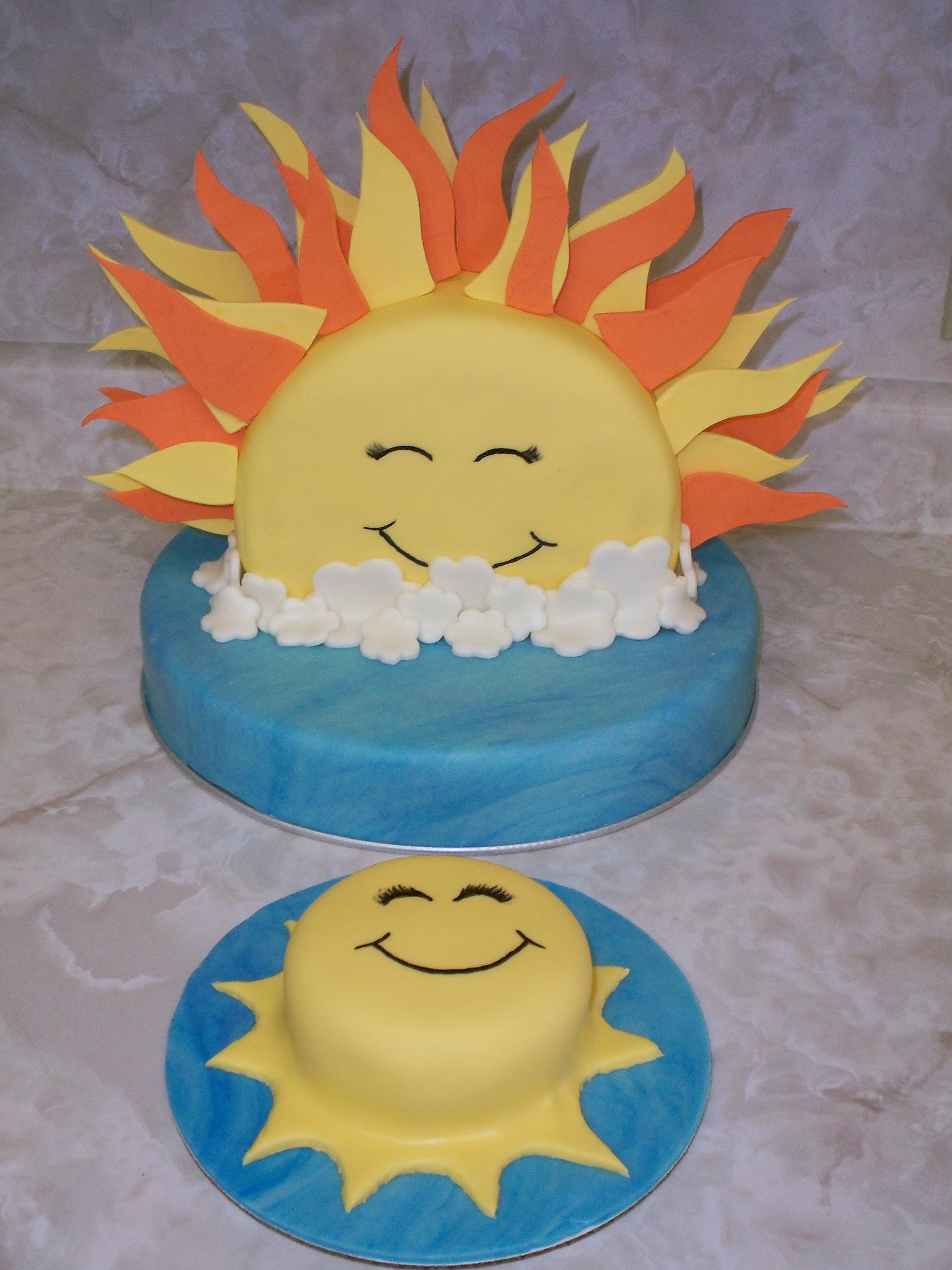 rising sun and matching smash cake - by Cake Occasion | kid cakes ...