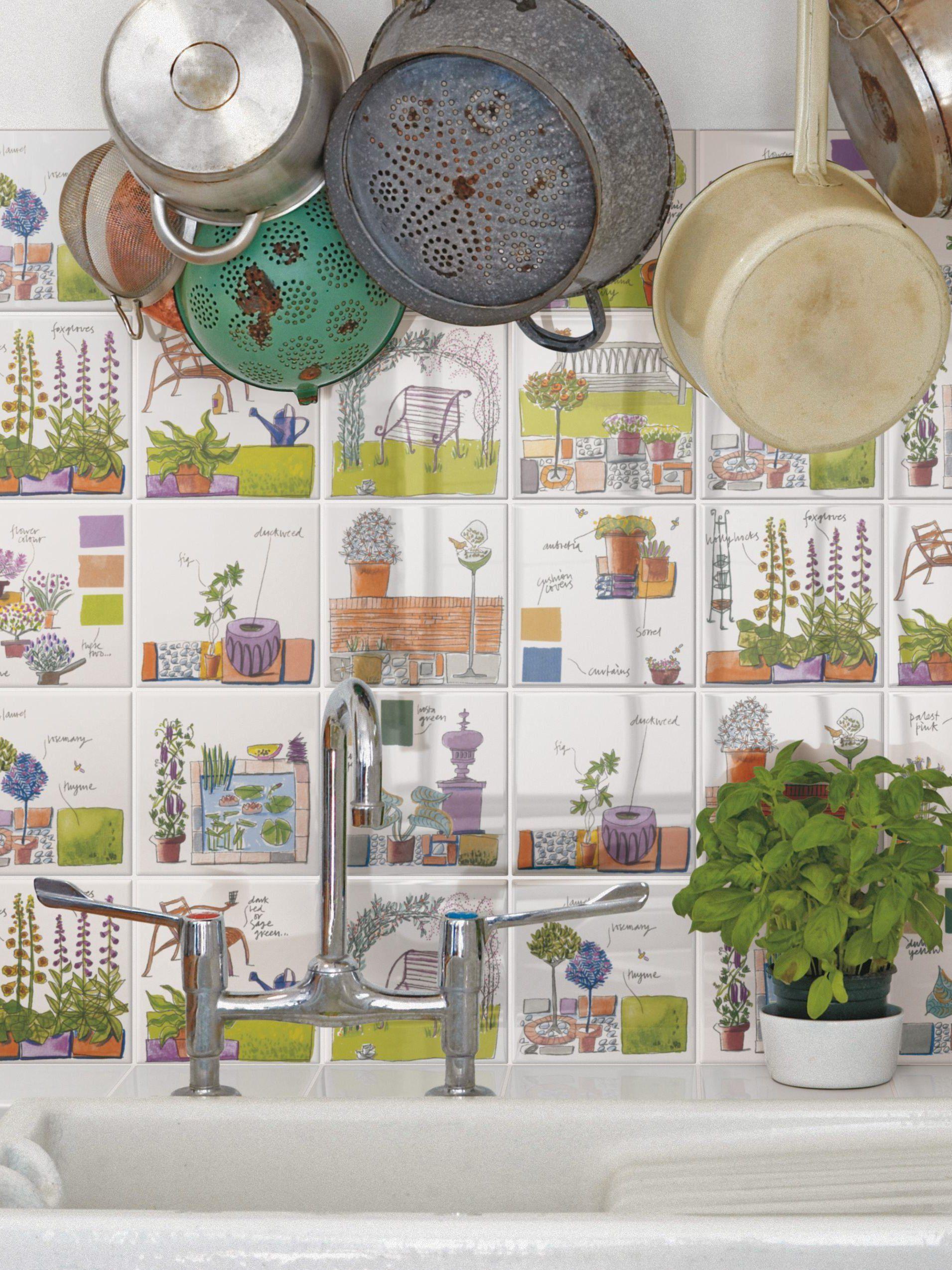 Garden Kitchen Wall Tiles Mary Ann By Ceramica Bardelli Design Julia Binfield