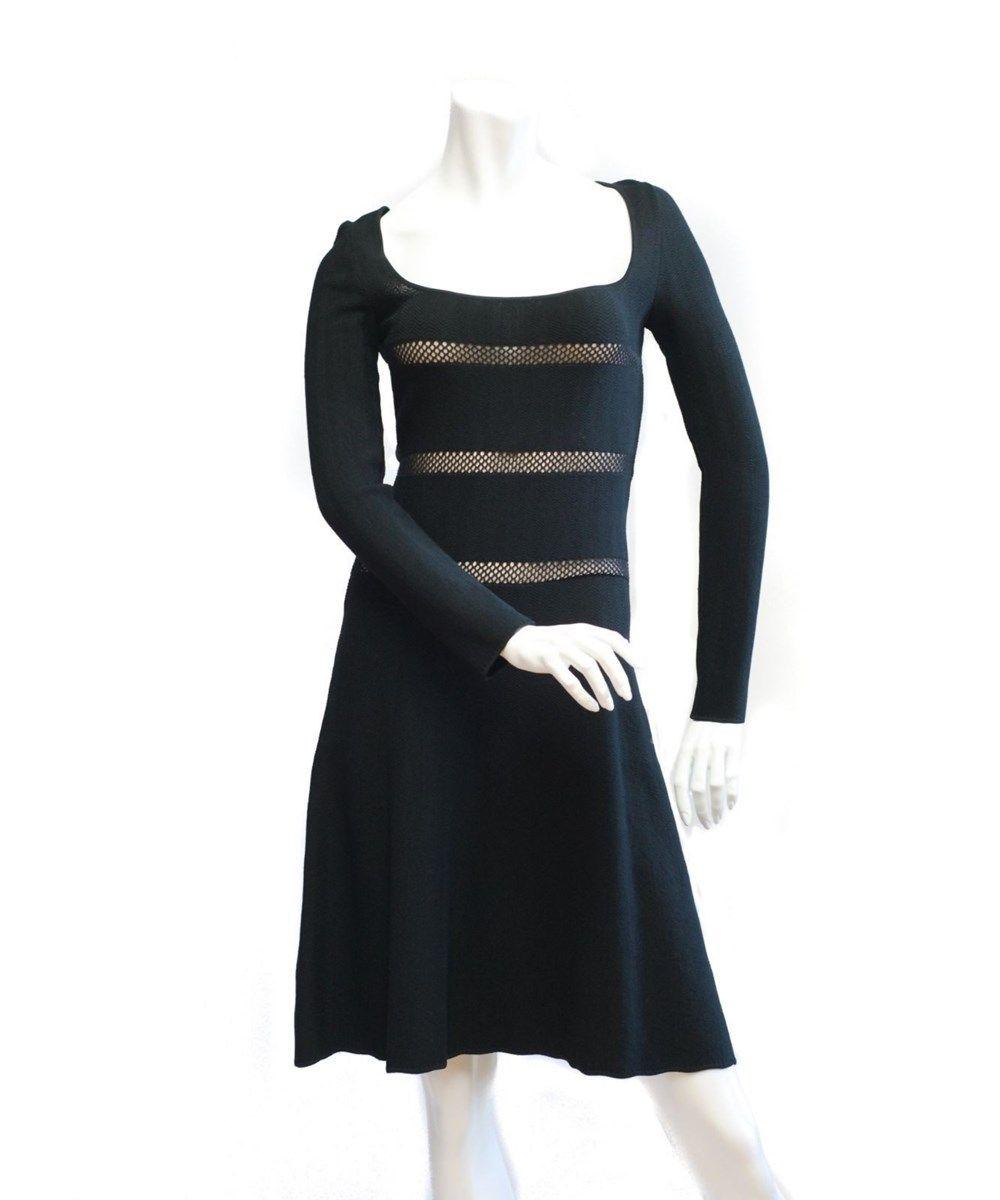 VALENTINO Valentino Little Black Long Sleeve Dress Size Small'. #valentino #cloth #desk to dinner