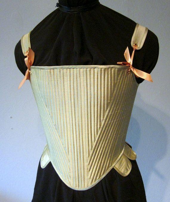 6d6a21b942f Elizabethan Corset Reed Boned Stays Lemongrass Green Silk
