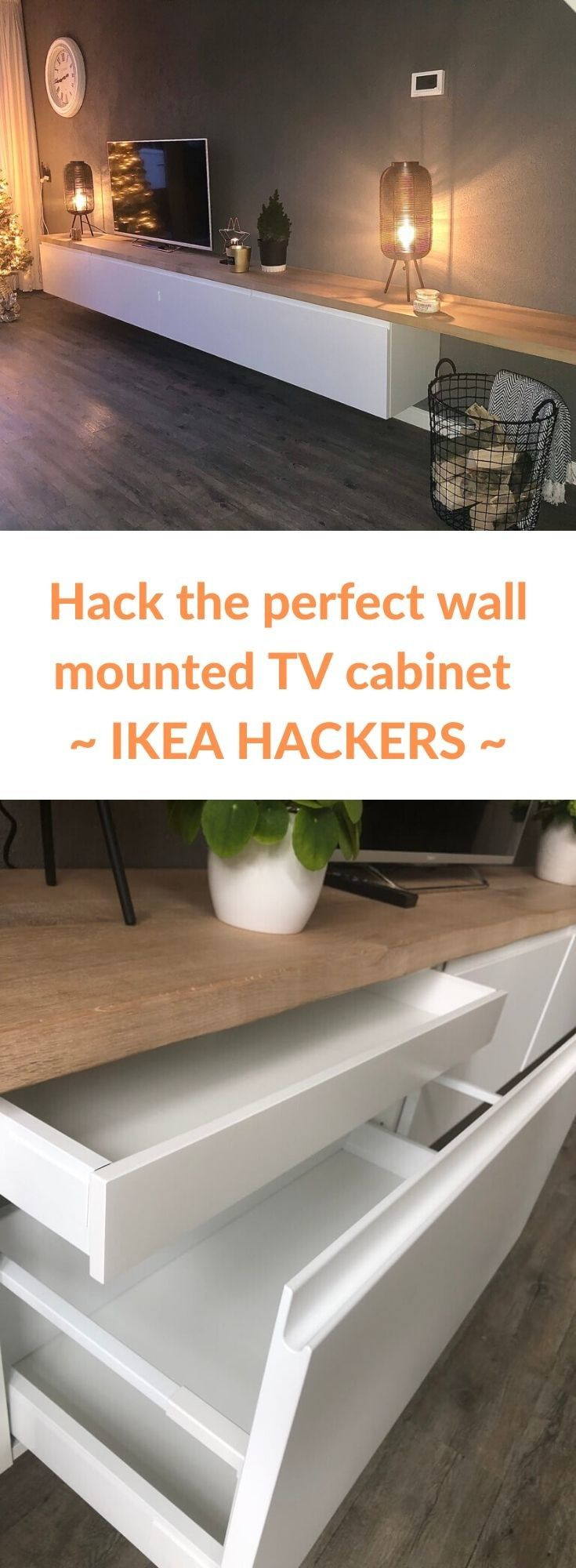 I cooked up a perfect wall mounted TV cabinet