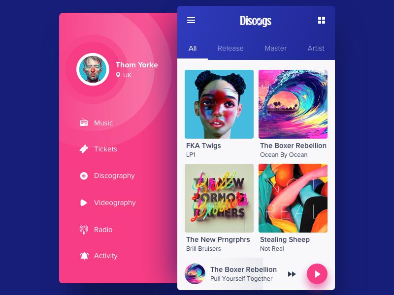 Mobile Menu Inspiration Music Player Design Menu Inspiration App