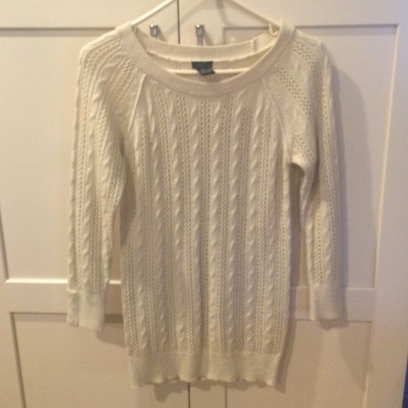 Sweater Creme  Perfect condition  Great for winter  Buttons on the sleeves  Rue 21 Sweaters Crew & Scoop Necks