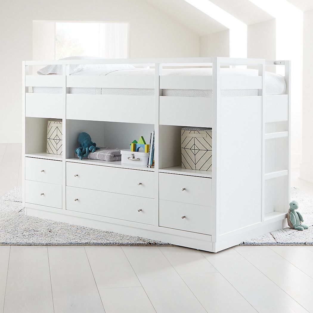 Best Perry Twin White Captain S Bed Crate And Barrel 640 x 480