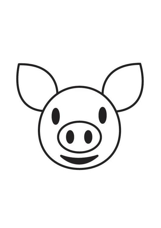 Malvorlage Schweinekopf | Basteln | Pinterest | Bilder zum ausmalen ...