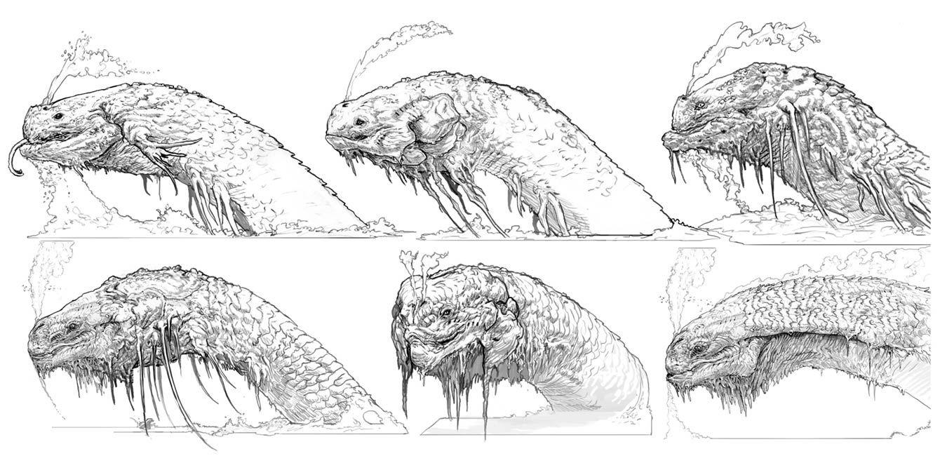 Jormungandr creature concept artwork from god of war art - God of war jormungandr ...