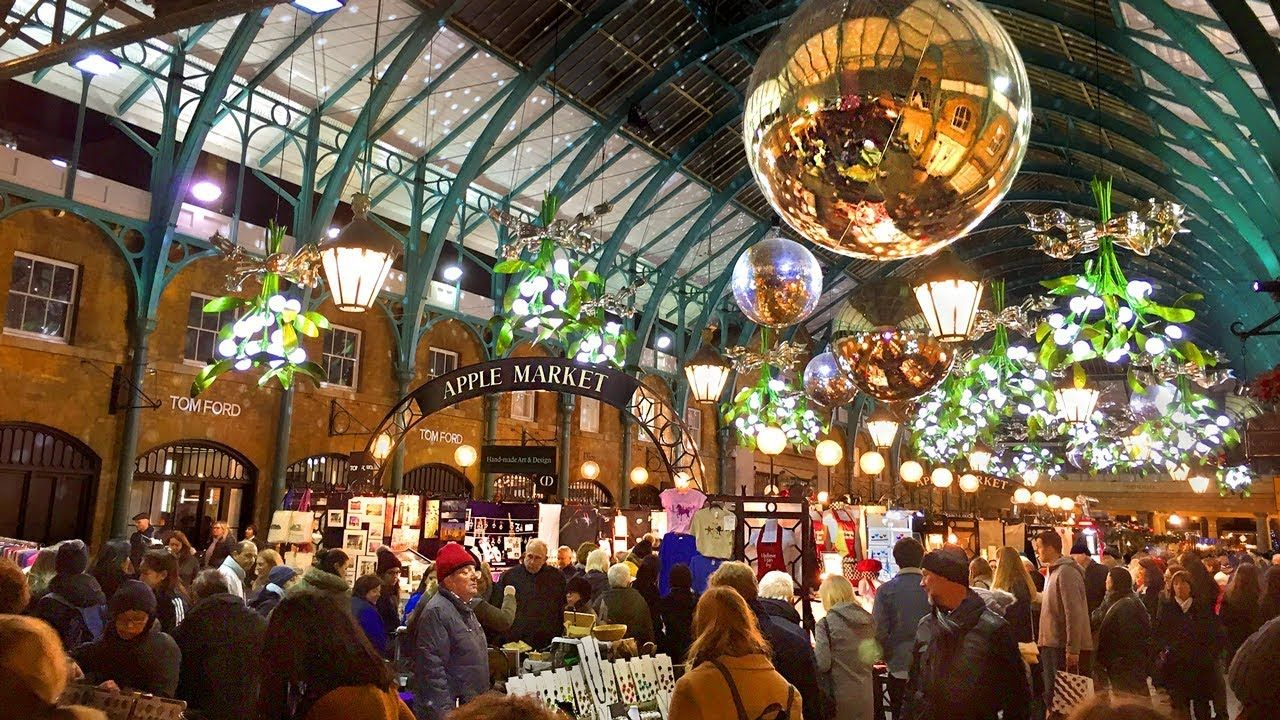Covent Garden at Christmas in London. This is one of the