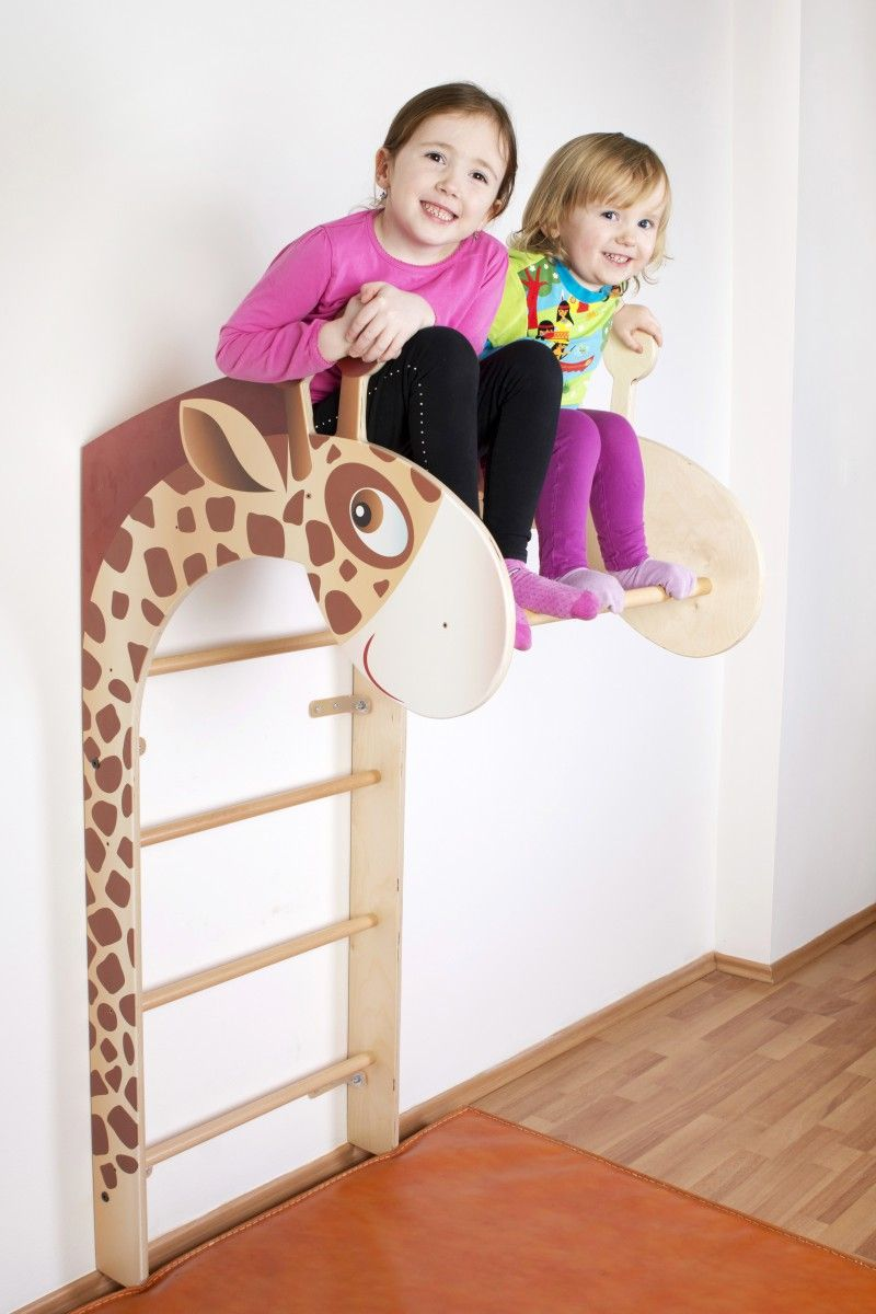 Sprossenwand Giraffe Natur Jumbo | Kinderzimmer & spielsachen ...