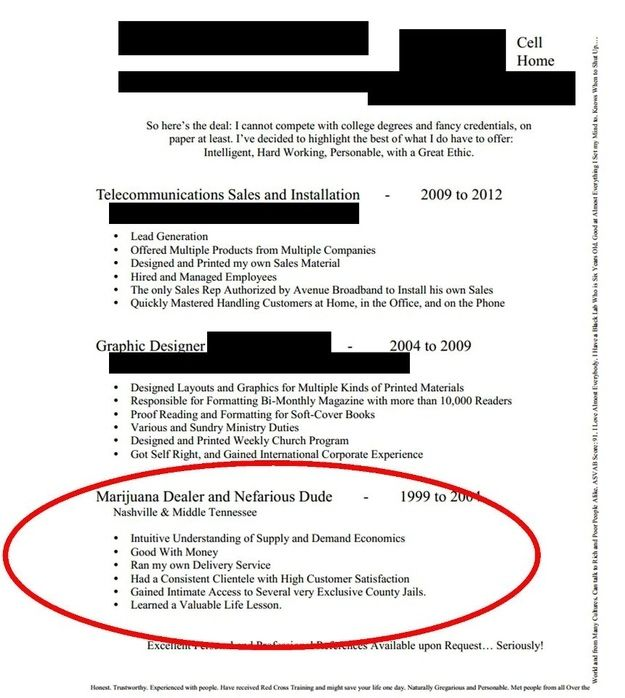 This Resume From A Real Nefarious Dude Stuff Pinterest The   Funny Resume  Best Resumes Ever