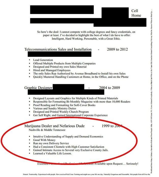 funny resume