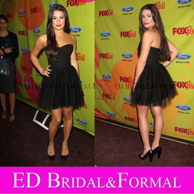 Lea Michele Kleine Schwarze Kleid FUCHS herbst Eco Casino ...