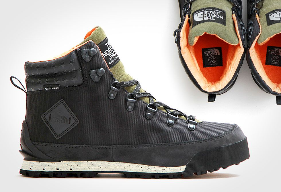Concepts X The North Face Back To Berkeley Boot Sneakers Men Fashion Leather Shoes Men Mens Work Shoes