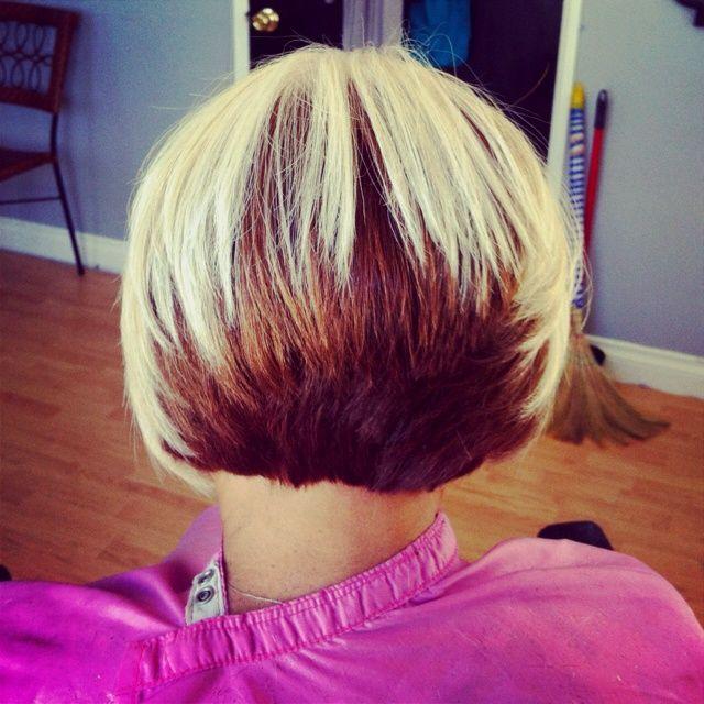 Two Tone Bob Hairstyle Hair Style Ideas Two Toned Hair Cool Hair Color Bob Hairstyles