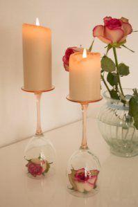 wine glass candleholder  http://pearlsforpillows.wordpress.com