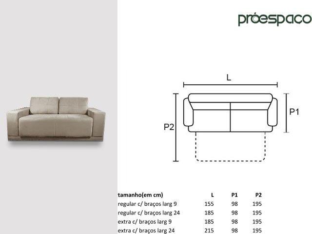 Pr espa o sof s cama pronta entrega 1 85 largura c for Medidas de sofa cama